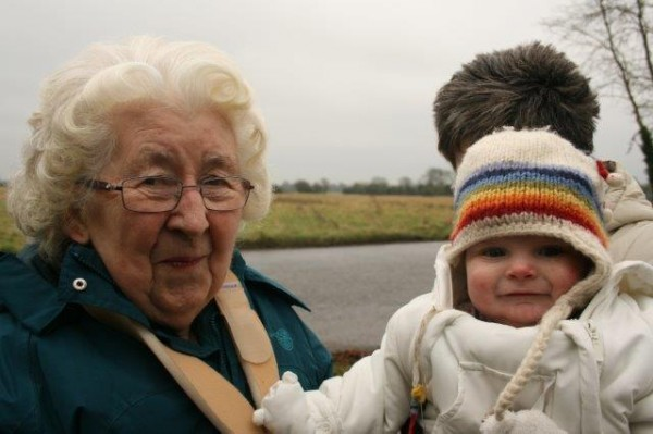 The youngest and oldest parishioners in the village